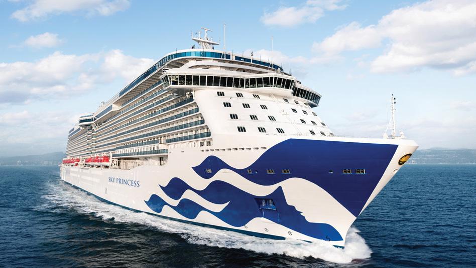 סקיי פרינסס: במשקל 143 אלף טון ותארח 3,560 נוסעים. צילום פרינסס