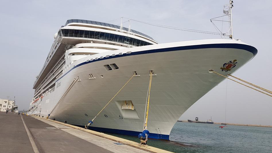 אושיאניה מרינה עוגנת בנמל חיפה. צילום עוזי בכר