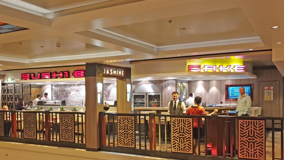 מסעדת Jasmine Garden,בר SAKA ו- Susi Bar בסיפון 7. צילום עוזי בכר