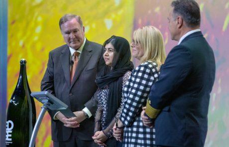 Celebrity Edge הושקה בנוכחות הסנדקית זוכת פרס נובל