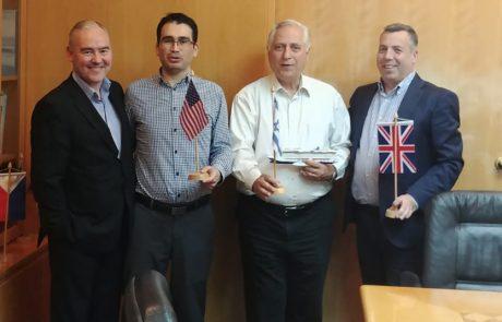 נציגים בכירים של נורוויג'ן קרוז ליין מבקרים בישראל