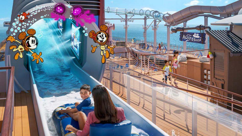 האטרקציה AquaMouse מפתיעה יותר מתמיד, באונייה דיסני וויש